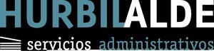 Hurbilalde logo blanco